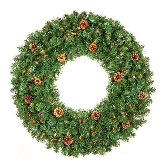 Wreath with Pinecones and Multicolor Lights.jpg