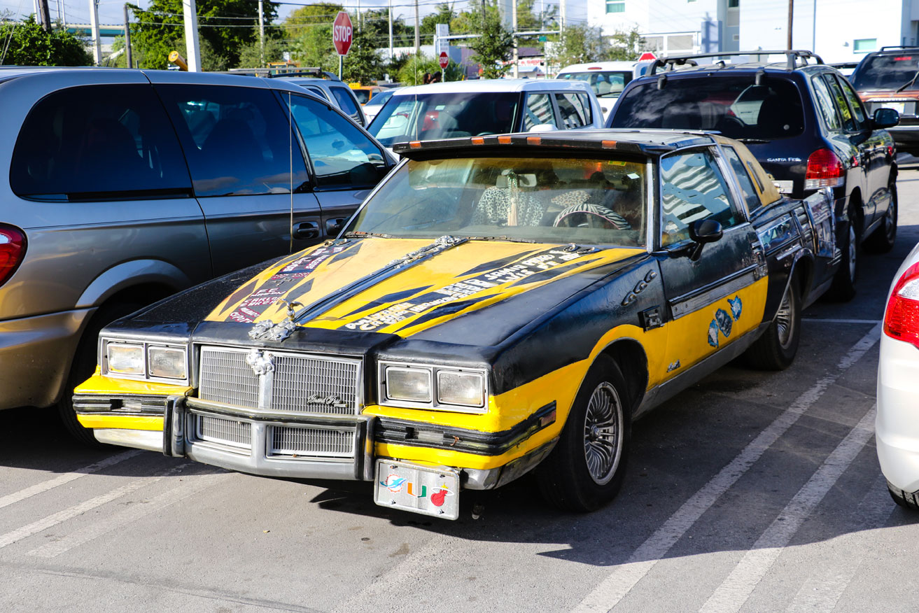 This beauty was in the Casino Miami parking lot. Obviously belongs to a jai alai fan.