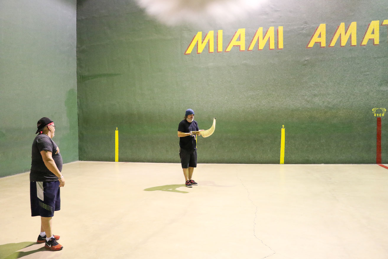 Luis tried his best to teach me, but I am apparently not jai alai jedi material. Me and my cesta did not get along.