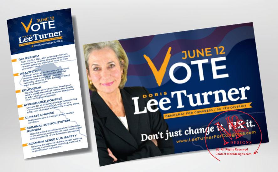 Campaign Palm Card & Postcard & Yard Sign
