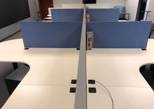 Long view of our Haworth Modular Office Panel Desks