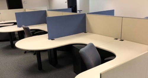 "48"" to 67"" tall Haworth Cubicle Workstations"