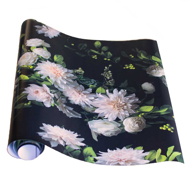Dahlia-Roses-Gift-Wrap-Black-w-faded-edges-roll-1.jpg