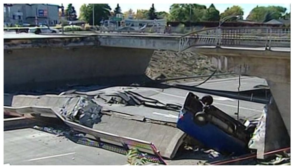Figure 1: De la Concorde overpass - 2007. (ref: https://www.cbc.ca/news/canada/montreal/de-la-concorde-overpass-collapse-timeline-1.3784265).