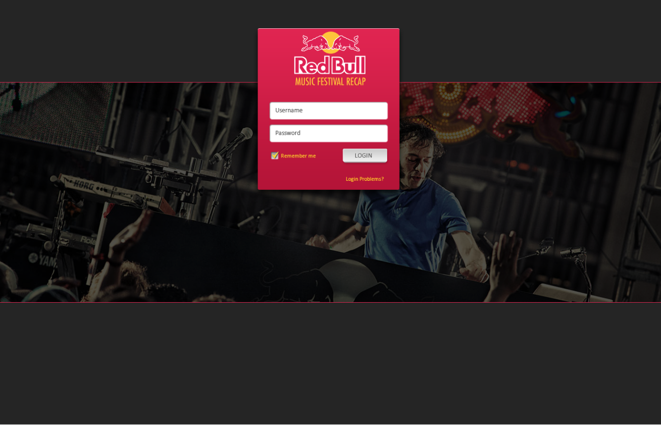 Red Bull Festival Tracker - A custom web-based application that supports forecasting and reporting of all of Red Bull's global festival activations.