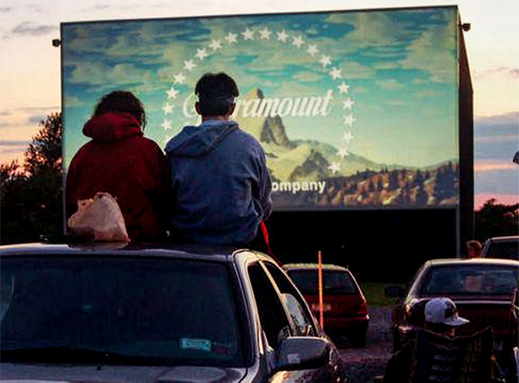 The Drive In Moviesis a pop-up drive-in theatre - On Wednesday evenings, a parking area is transformed into one of these classic movie-watching experiences while guests watch 3 films that have seen recent circulation in indoor theatres.