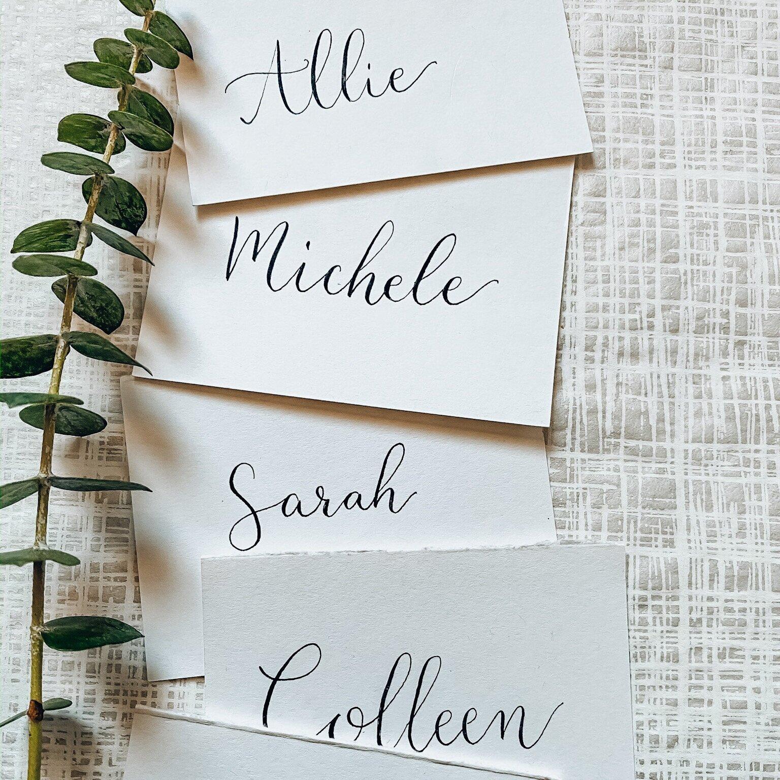 Rose laser cut place cards  Handwritten  Calligraphy  Modern calligraphy  Wedding  PartyBrunch Unique Elegant wedding Custom made