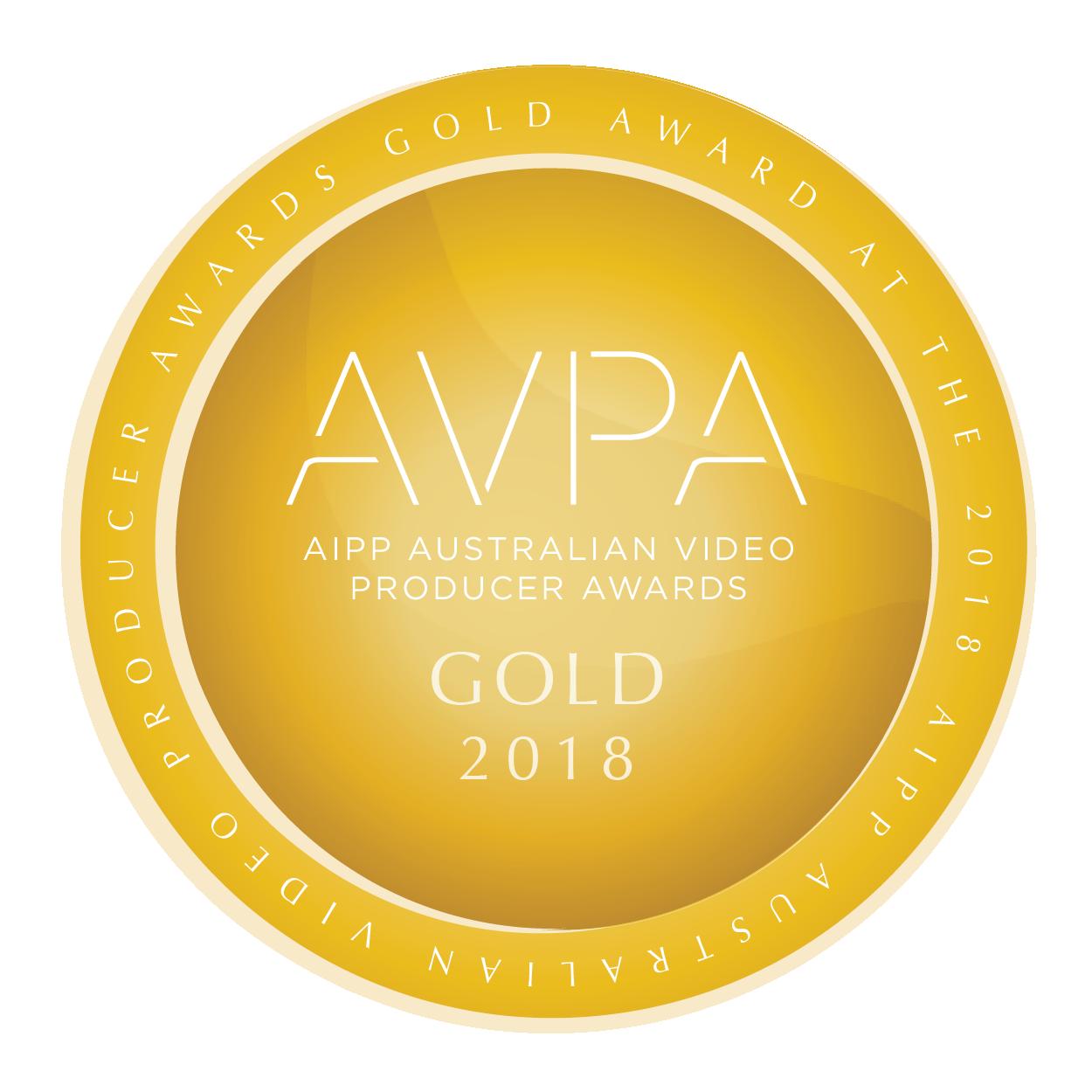 2018 Gold Award Winner - Australian Video Producer Awards