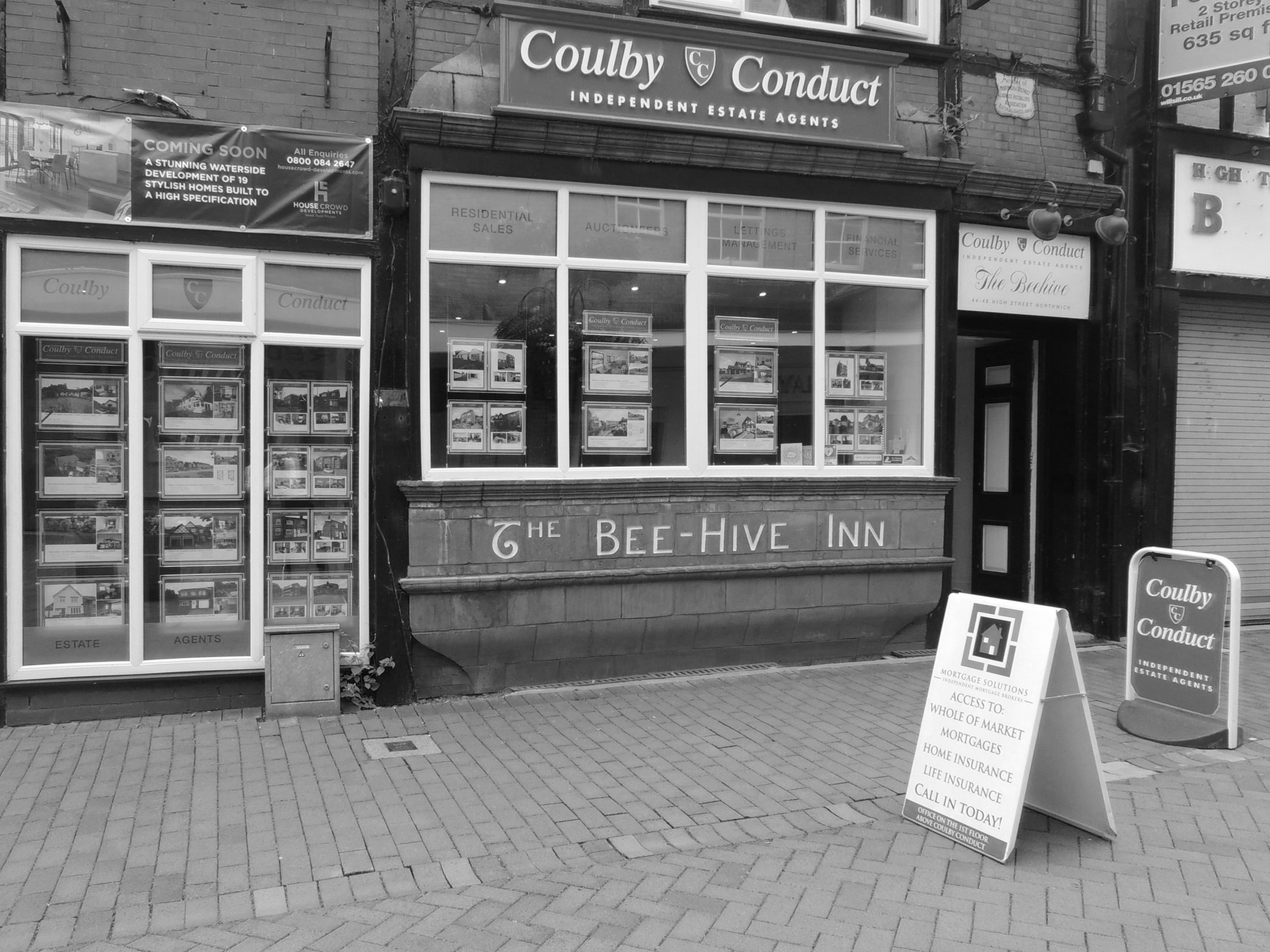 Northwich Office - 44/46 High StreetNorthwichCheshireCW9 5BEEmail: sales@coulbyconduct.co.ukPhone: 01606 352220