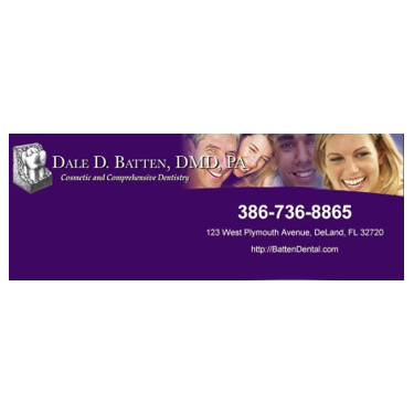 DALE BATTEN, DMD, PA   Dale D. Batten, DMD, PA is proud to serve DeLand, FL and surrounding areas. We are dedicated to providing the highest level of  dental medicine  along with friendly, compassionate service.