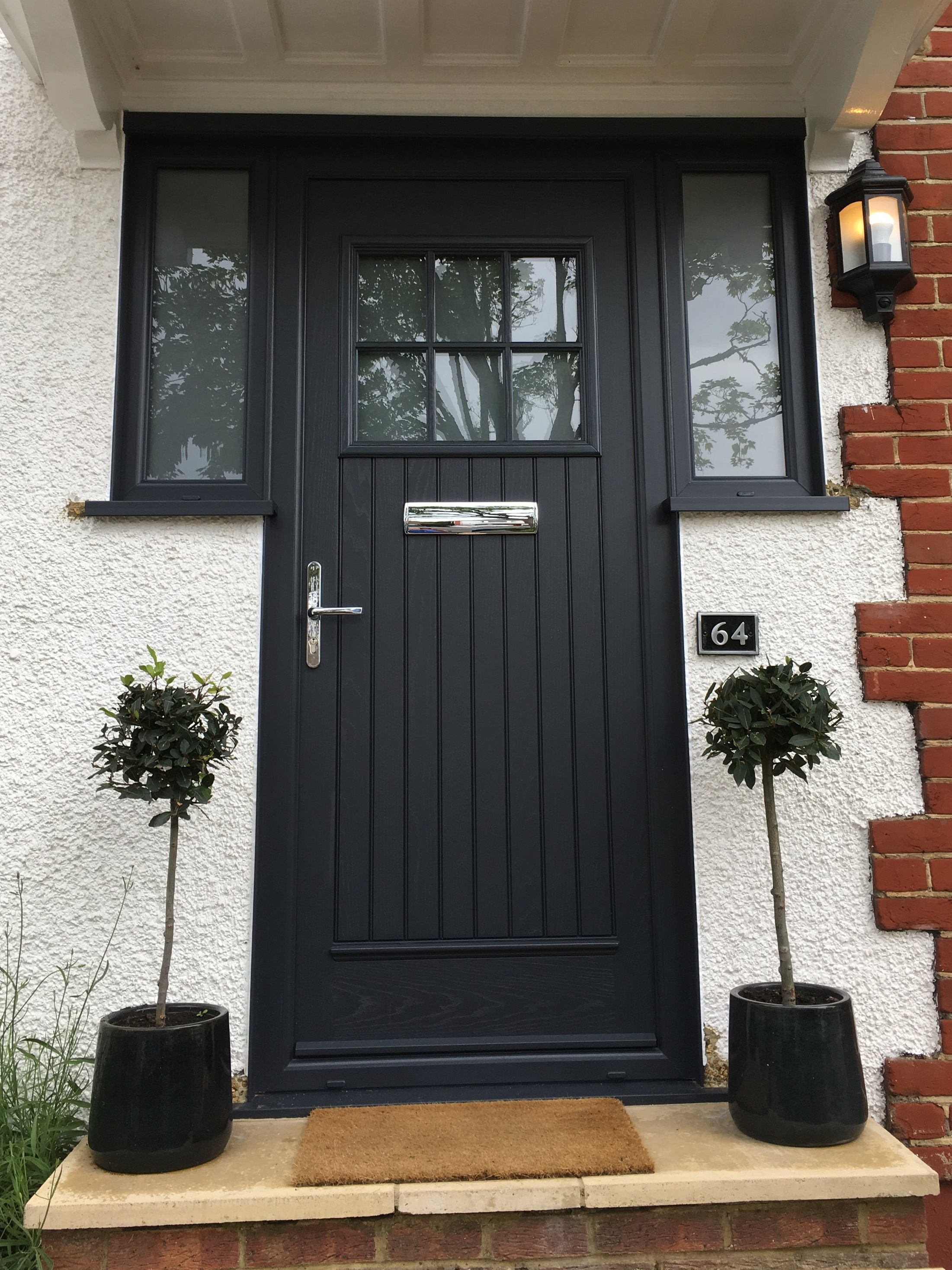 Entrance Doors - What better way to make a positive initial statement and secure your home against weather and intruders than with a new composite door from our wide range, tailored perfectly to suit your project?There is a door in our range to suit everyone, whether you wish to add visual impact or simply blend seamlessly with the style of your home. Choose from one of our wood grain finishes or our range of glazing options, both functional and ornamental.We can provide obscured glazing, stained glass, lead features and a variety of energy efficiency ratings. We offer a large choice of furnishings to further tailor your new door to your personal taste. View our range of front doors in the brochures below:Palladio Door BrochureSash Next-Gen Door Brochure.If you would like to book a no obligation home survey please call our showroom team who will be more than happy to discuss your enquiry: 020 8361 0128.