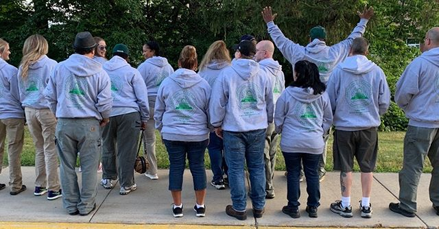 No Sweat Union made & printed hoodies showing solidarity with AFSCME Local 3866. Special thanks to Cheryl Gregg!