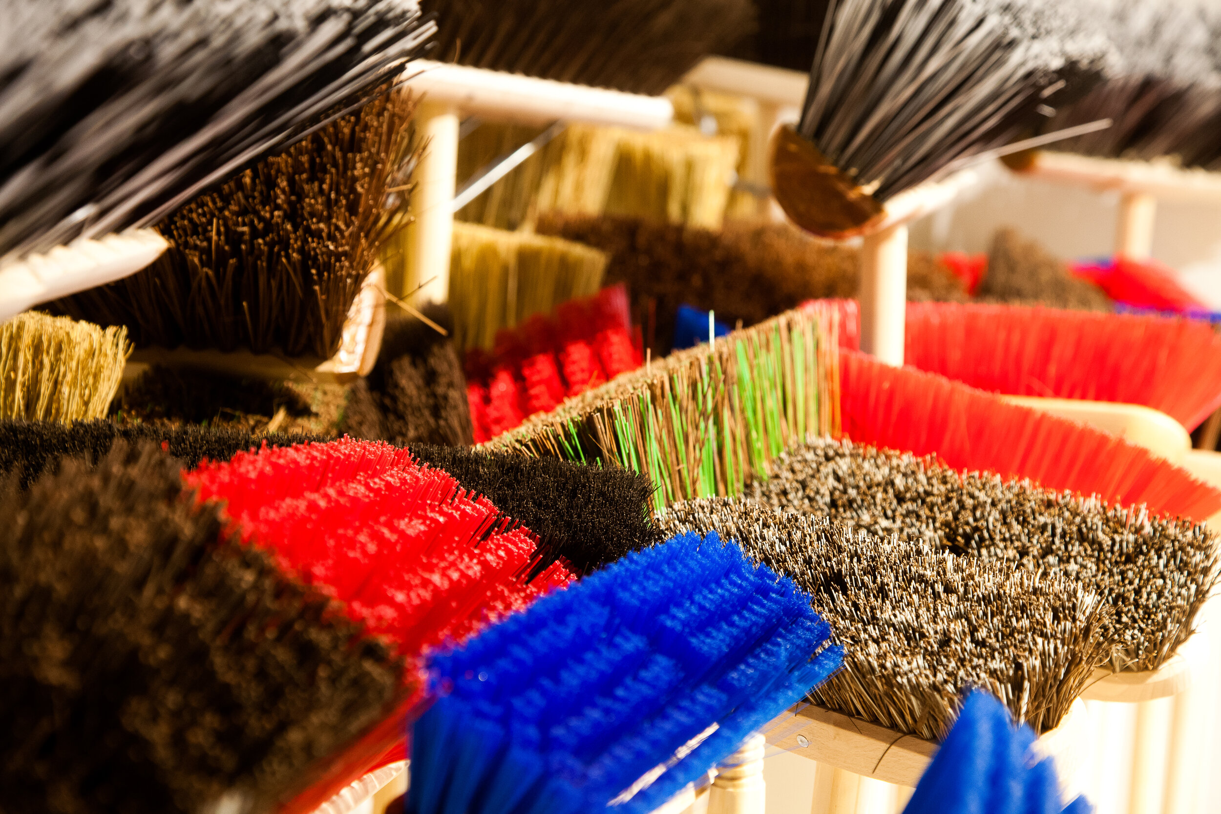 A selection of Hillbrush brooms