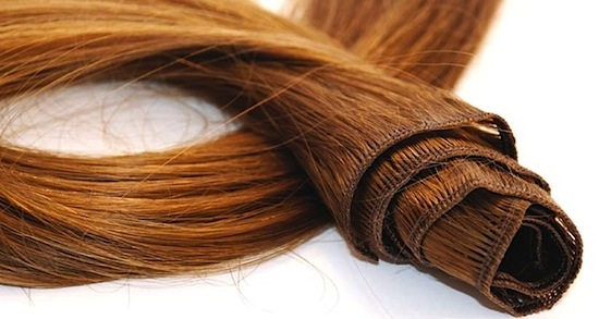 WEFTS OR BUNDLES:  A Weft basically means it is a long strip of hair that looks like a curtain that has a triple seam at the top that holds the hair in place. This is also where you can sew on clips, or glue or sew the hair in to your hair.