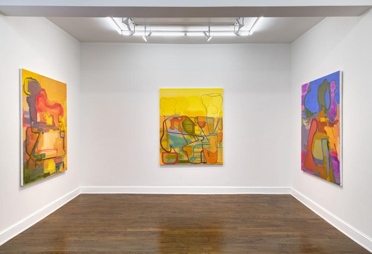 Installation view of  Elizabeth Hazan: Heat Wave  at Johannes Vogt Gallery, New York (all images courtesy of Johannes Vogt Gallery)