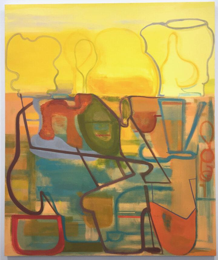 """Elizabeth Hazan, Field #71, oil on canvas, 20"""" x 16"""""""
