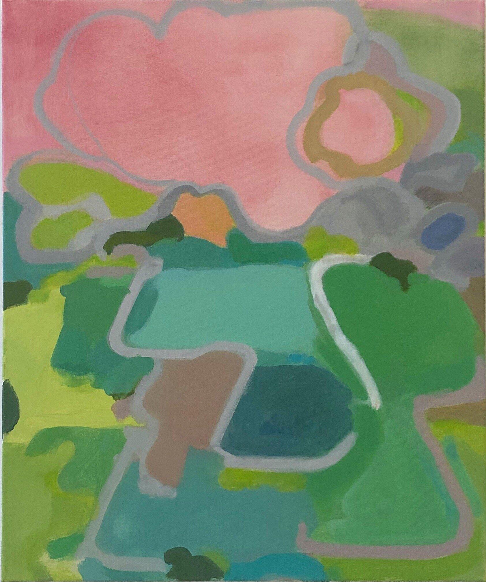 """Elizabeth Hazan, Field #81, 2019, oil on canvas, 24"""" x 20"""""""