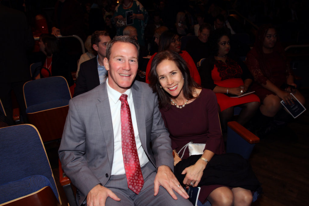 Christine's Christmas Concert attendees, Ohio's John Husted & Tina Husted