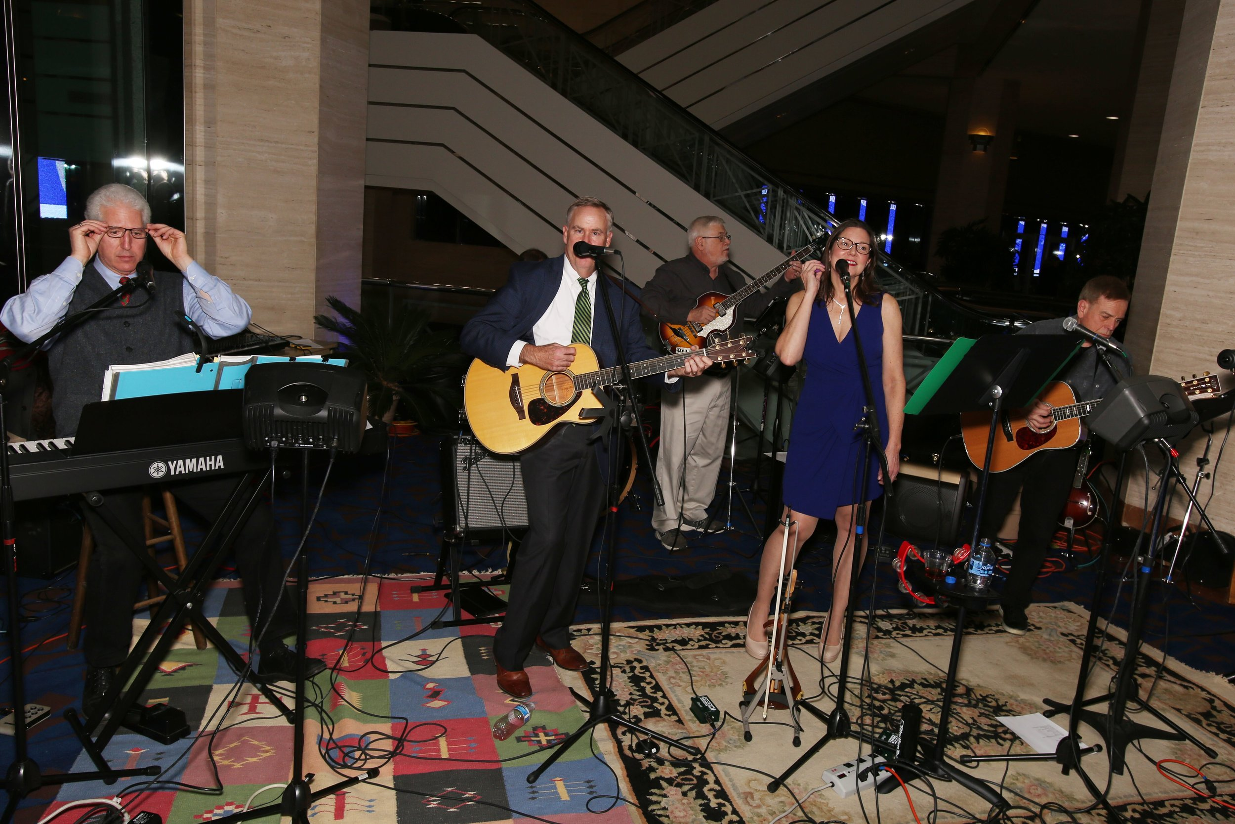 Photo - Christine's Christmas Concert Event - The Klatt Brother's Band entertains during receptions.