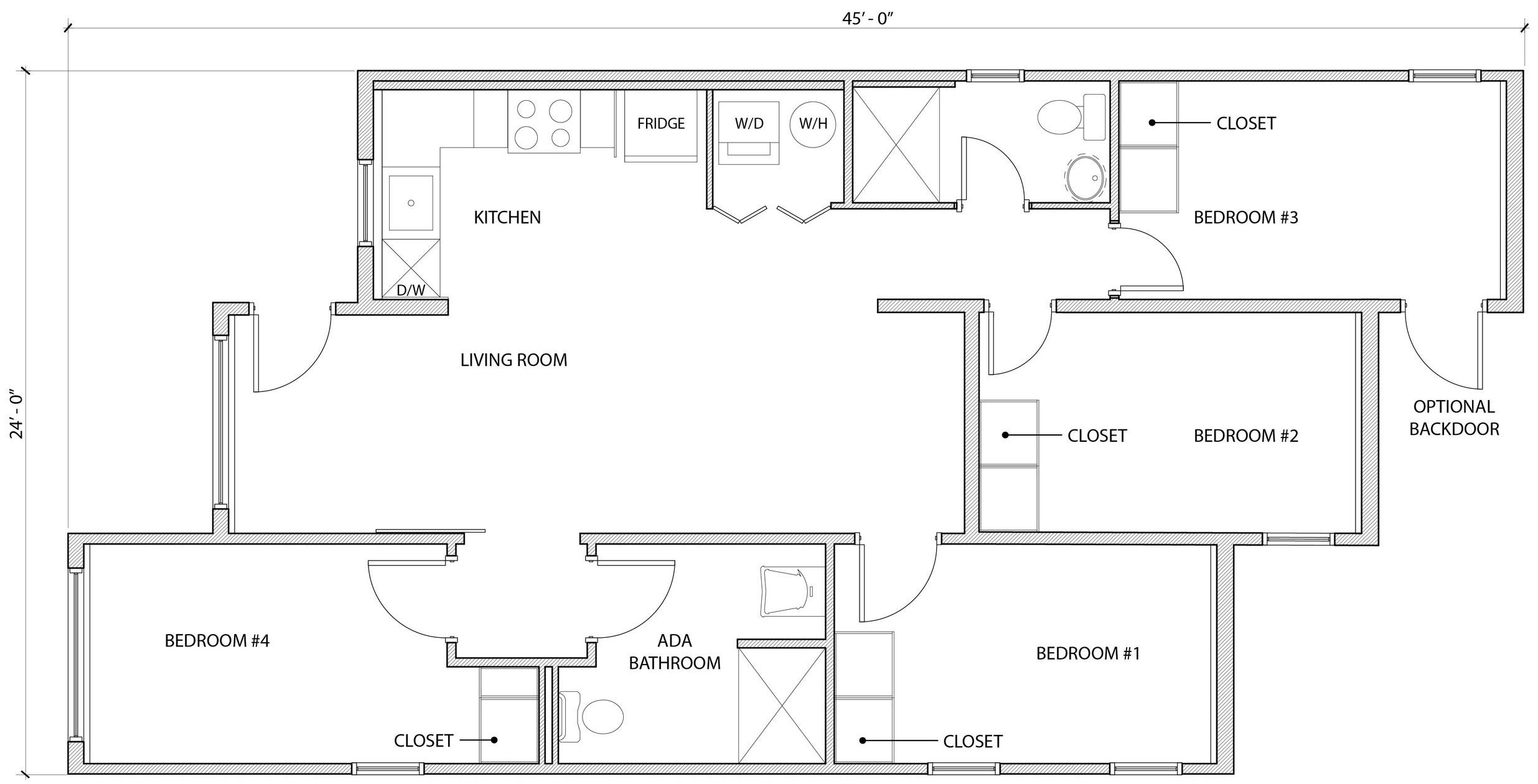 4 Bedroom ADA Type B