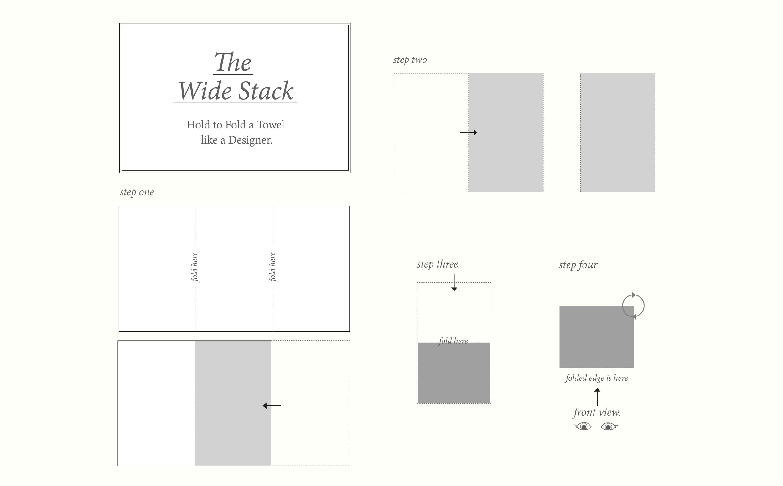 How To Fold A Towel Like A Designer Morihata Directory