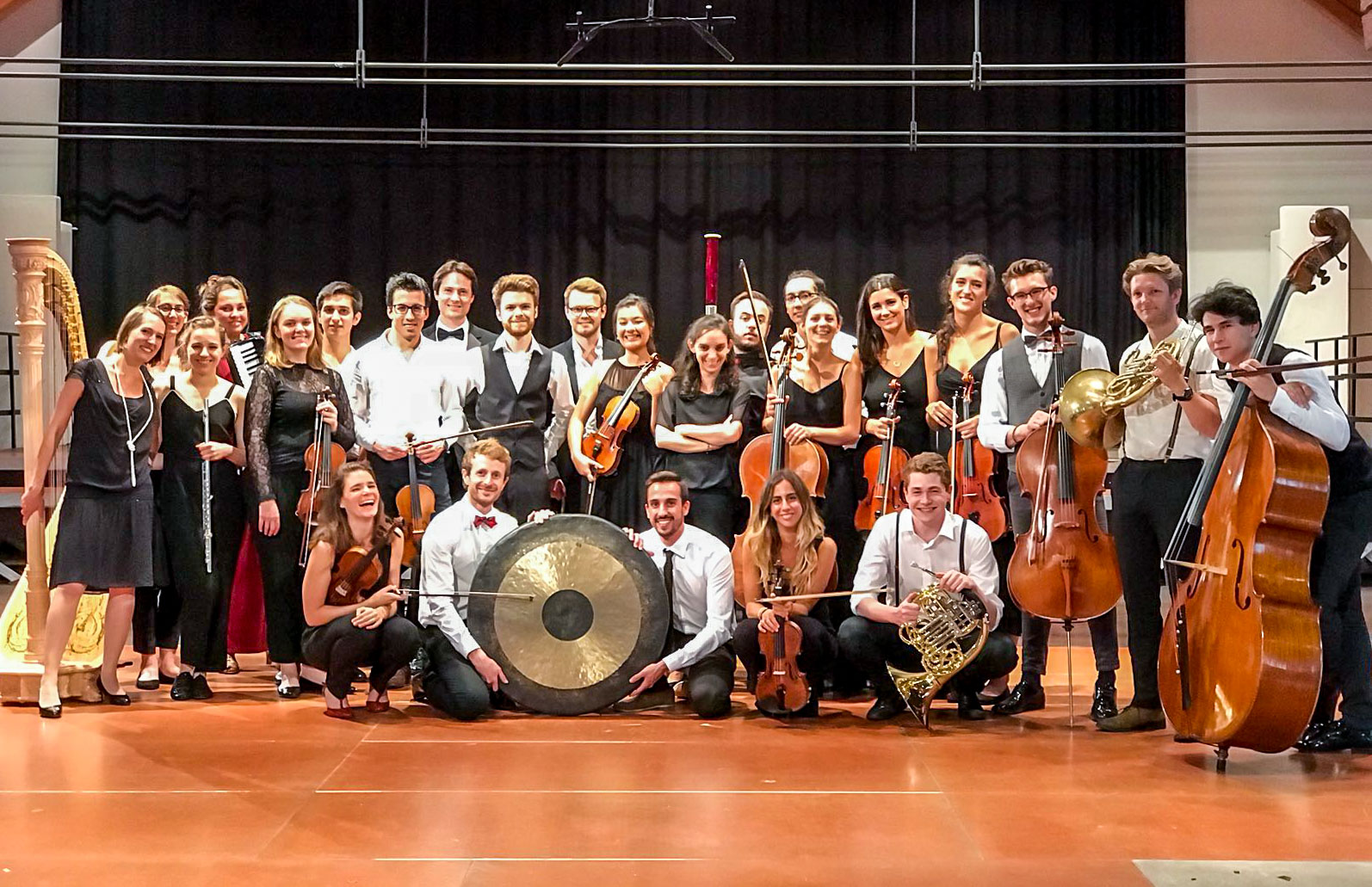 The members of the Alma Mahler Kammerorchester after our recording session in Ochsenhausen.