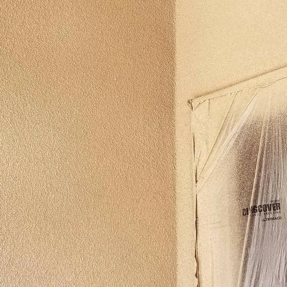 Beautiful Stucco Texture Cork Spray