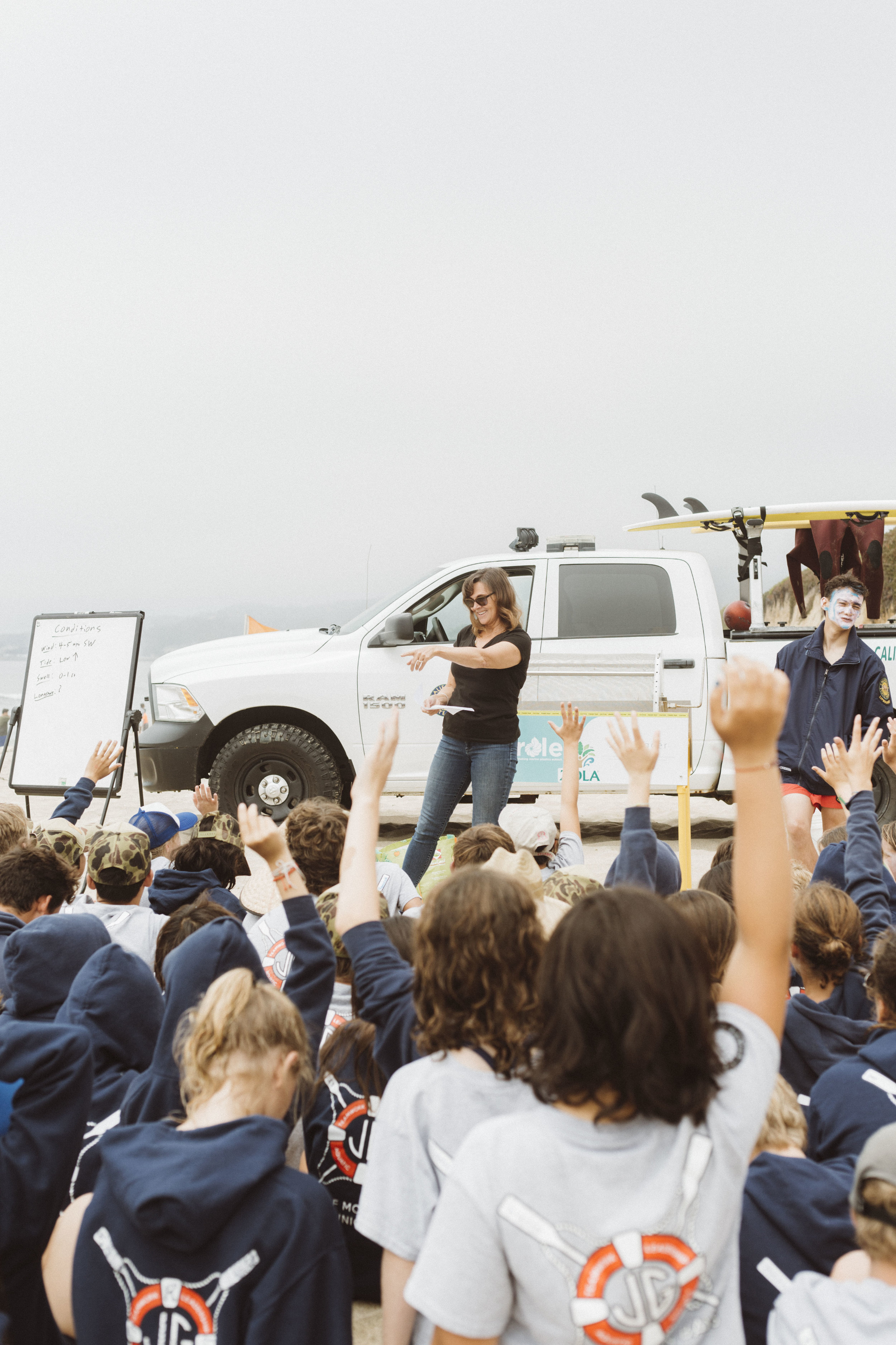 Sea Hugger educates the youth from Jr. Lifeguards about dangers of plastic pollution