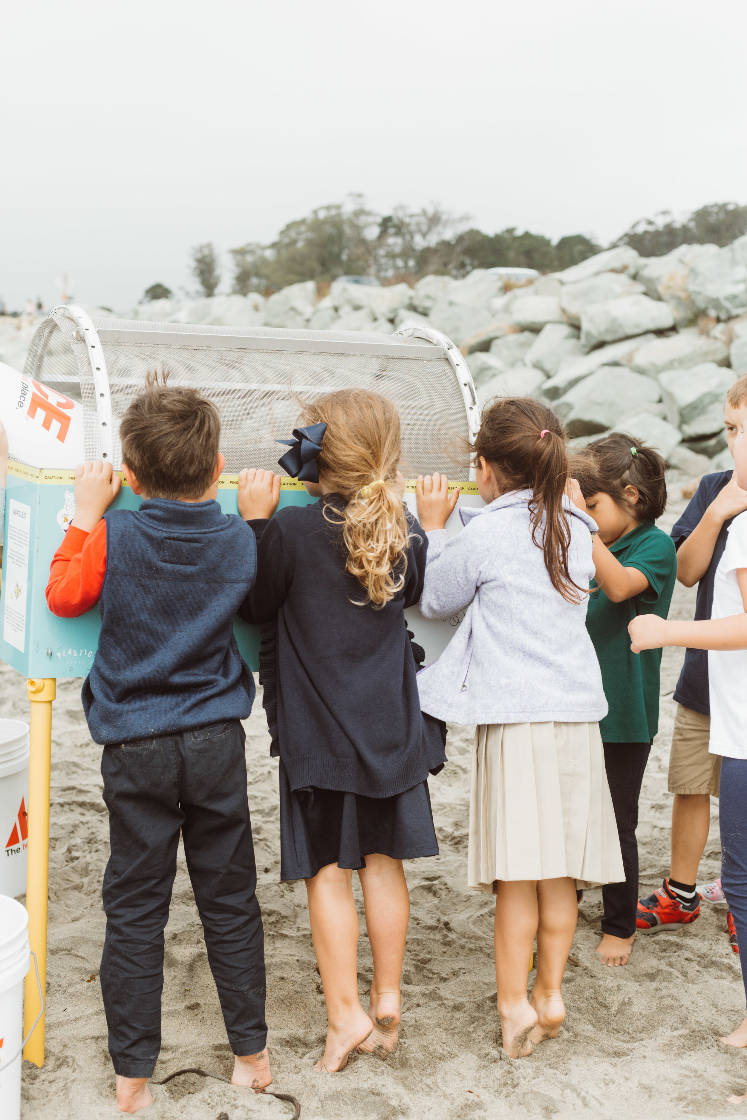 Sea Hugger's Nurdle Trommel helps teach kids about the dangers of plastic pollution.