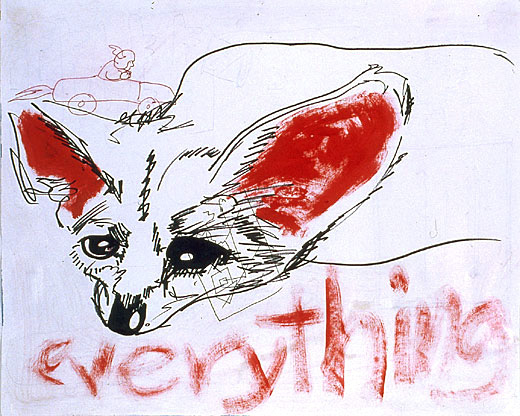 everything  Pencil and marker on paper 11 x 13 1/2 inches 2000