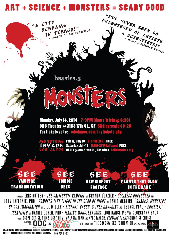 "Poster for ""BAASICS.5: Monsters"" (2014)."