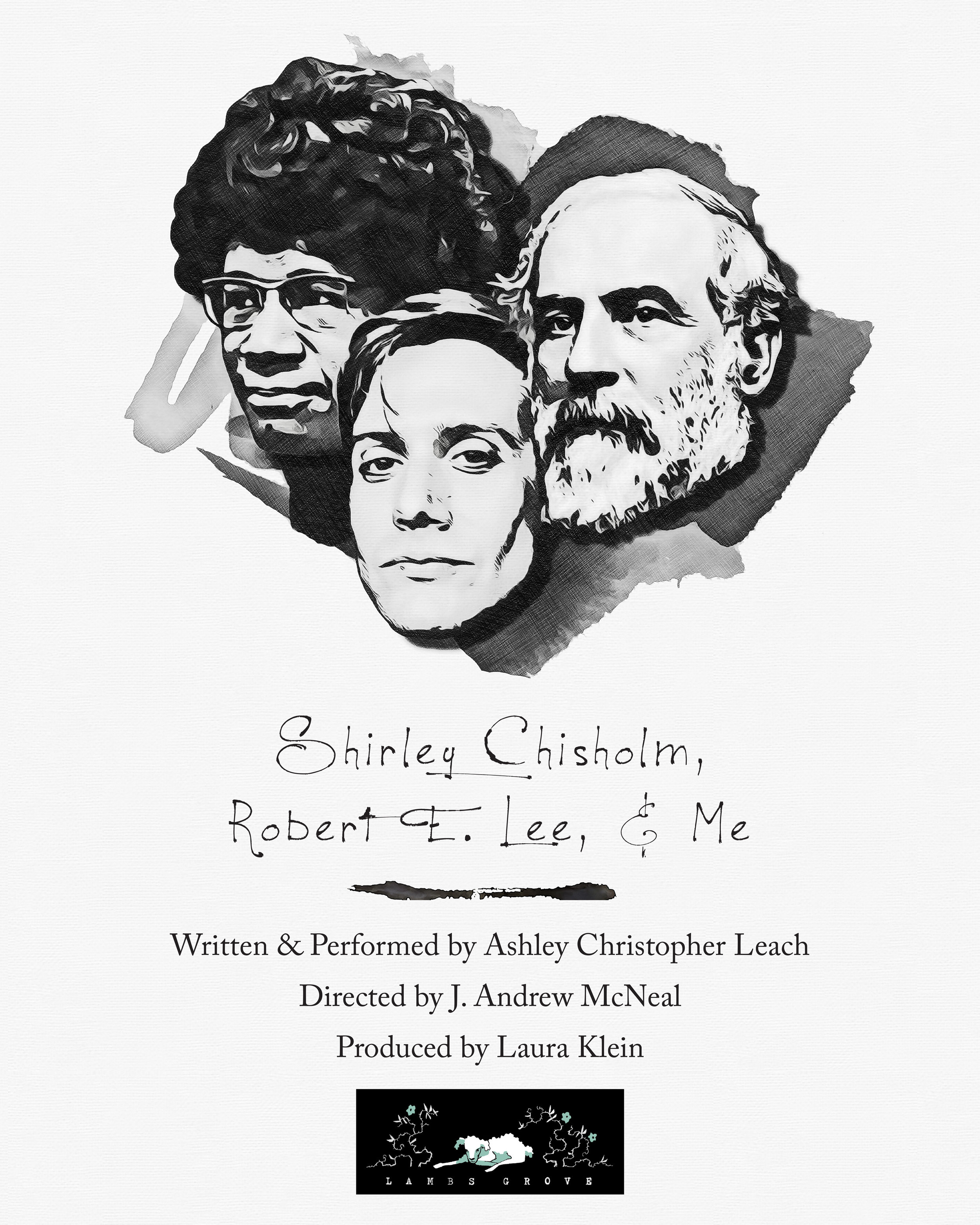 "Promotional Illustration for ""Shirley Chisholm, Robert E. Lee, & Me"""