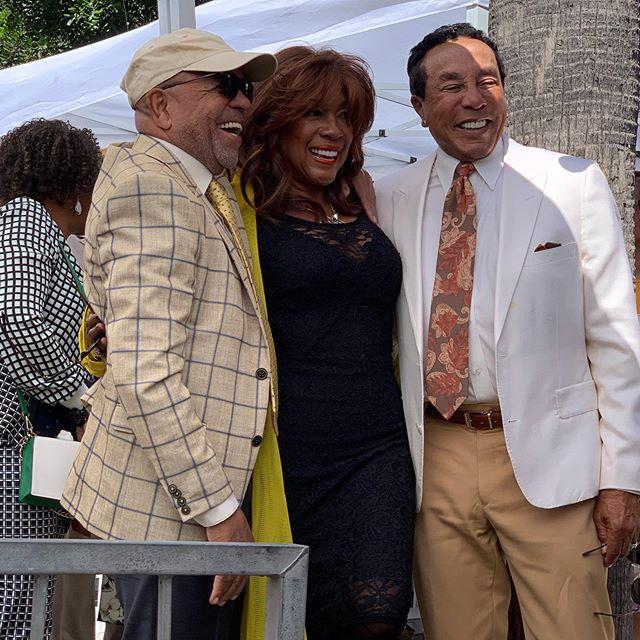 Some of our special guests at today's presentation of #jackiewilson 's star at the #hollywoodwalkoffame.