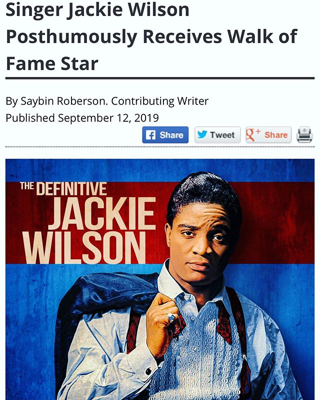 More coverage from this beautiful day for #jackiewilson, his family and his fans.  Thank you @lasentinelnews