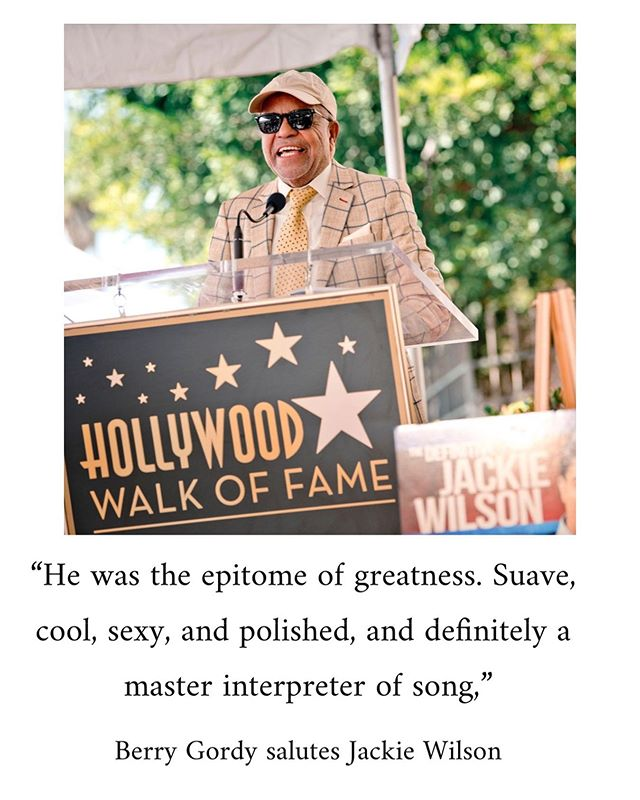 We are grateful to #berrygordy for his tribute to #jackiewilson at the #Hollywoodwalkoffame presentation last week. If you weren't able to catch it, then click the link in bio for the full ceremony!  #mrexcitement