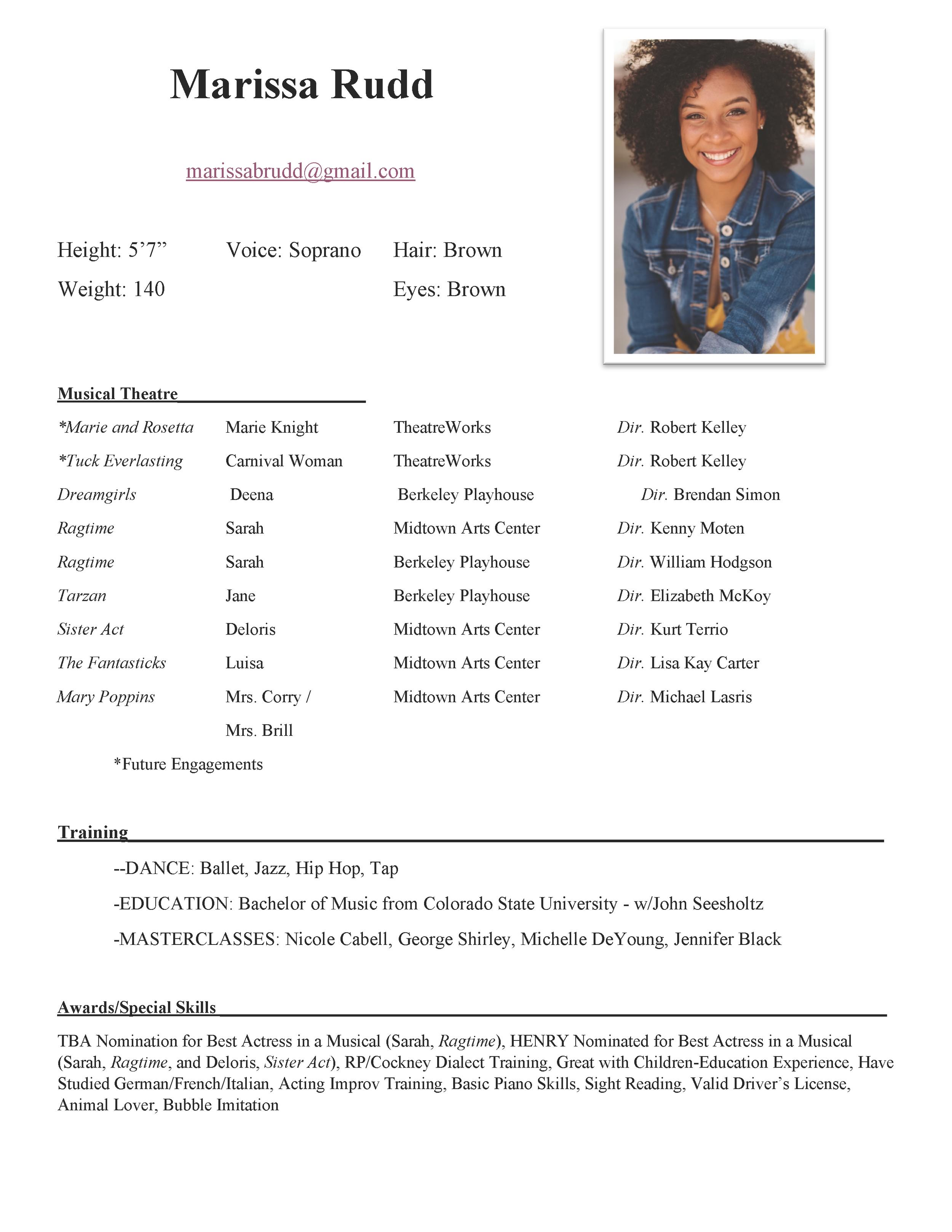 Marissa's Resume