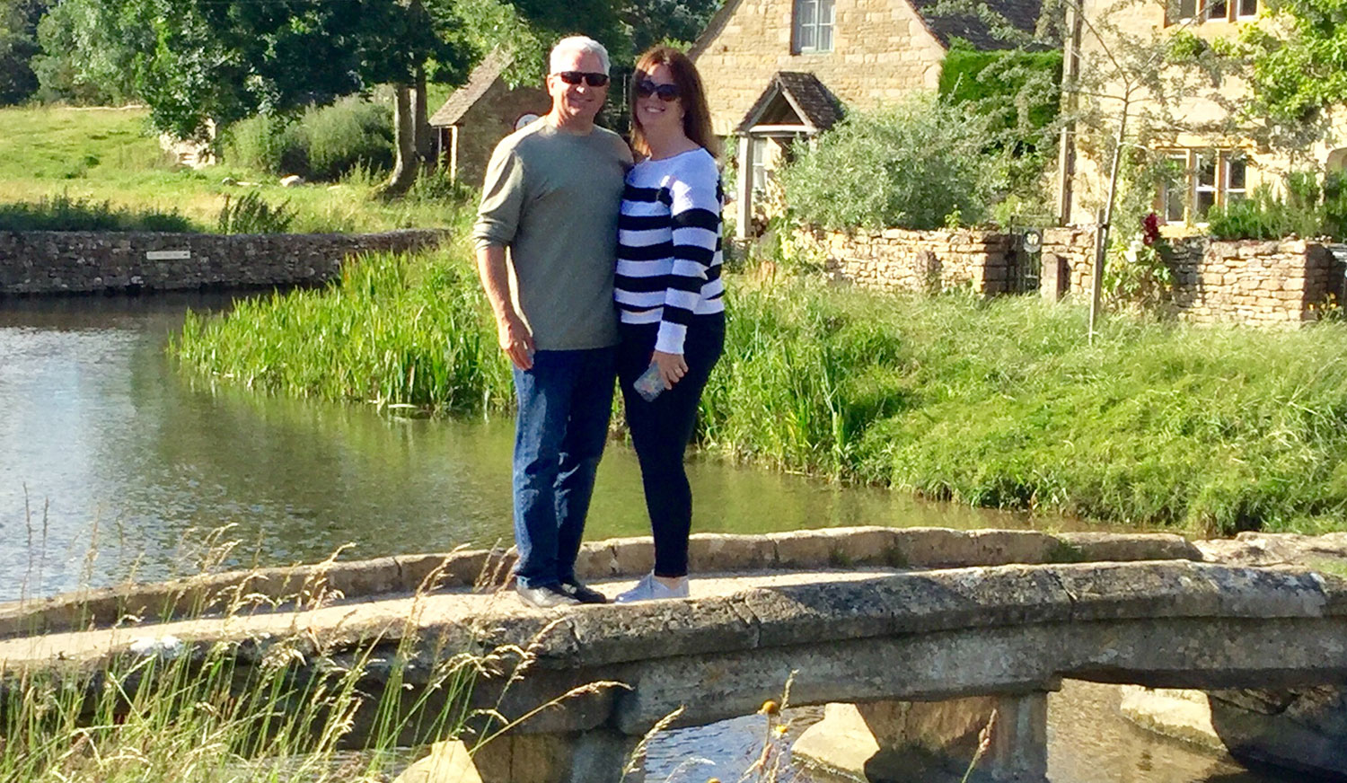 CLIENTS ON MILL BRIDGE LOWER SLAUGHTER
