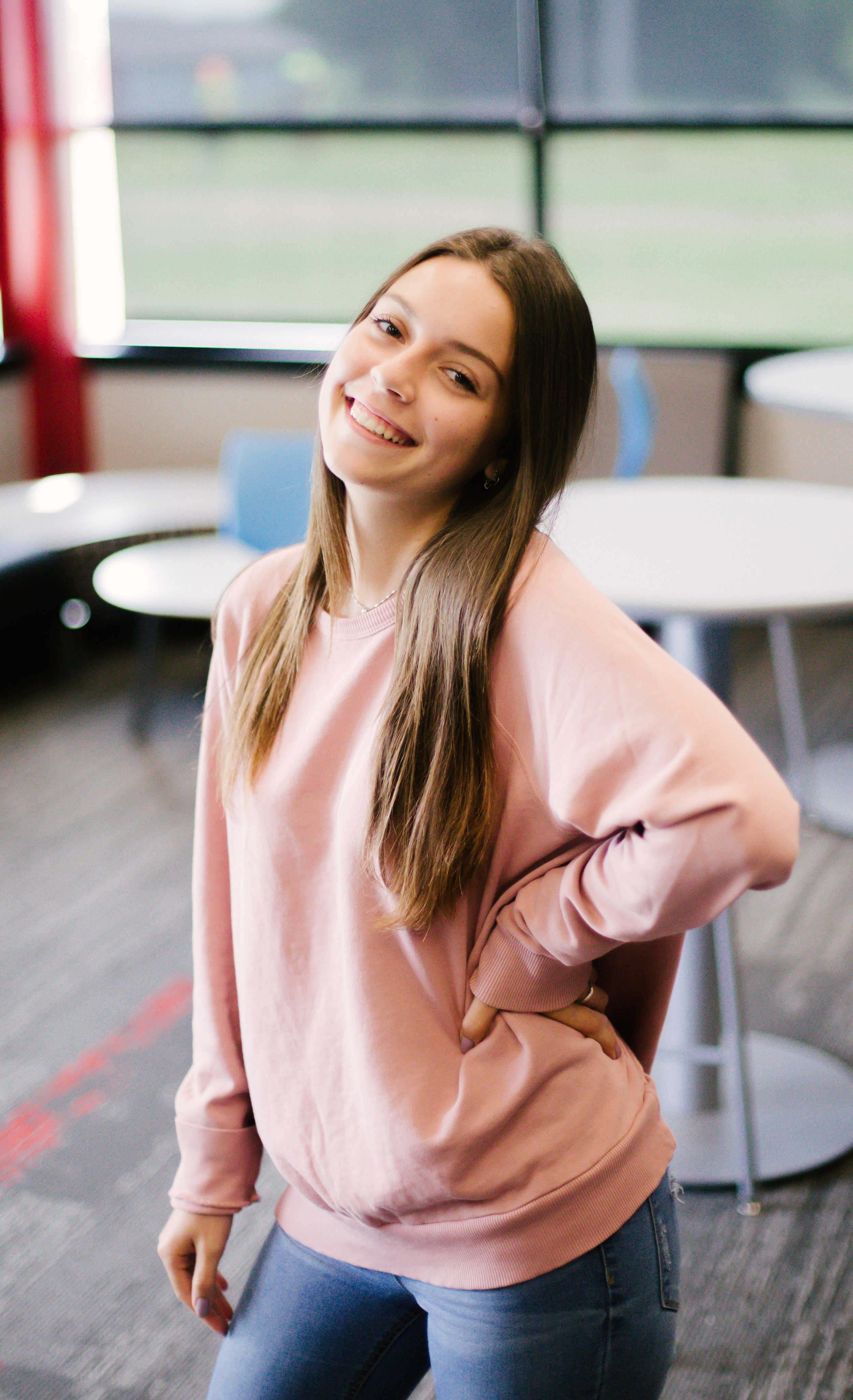 MEET ALICE! - Hi, I'm Alice Tugnetti. I'm 17 and I am a foreign exchange student from Italy. I'm in Digital Media because I like photography. I love music and all the food, but I love Italian food the most! Some fun facts about me: I did classical dance for ten years, I can play the violin, and I have never seen a horror movie.