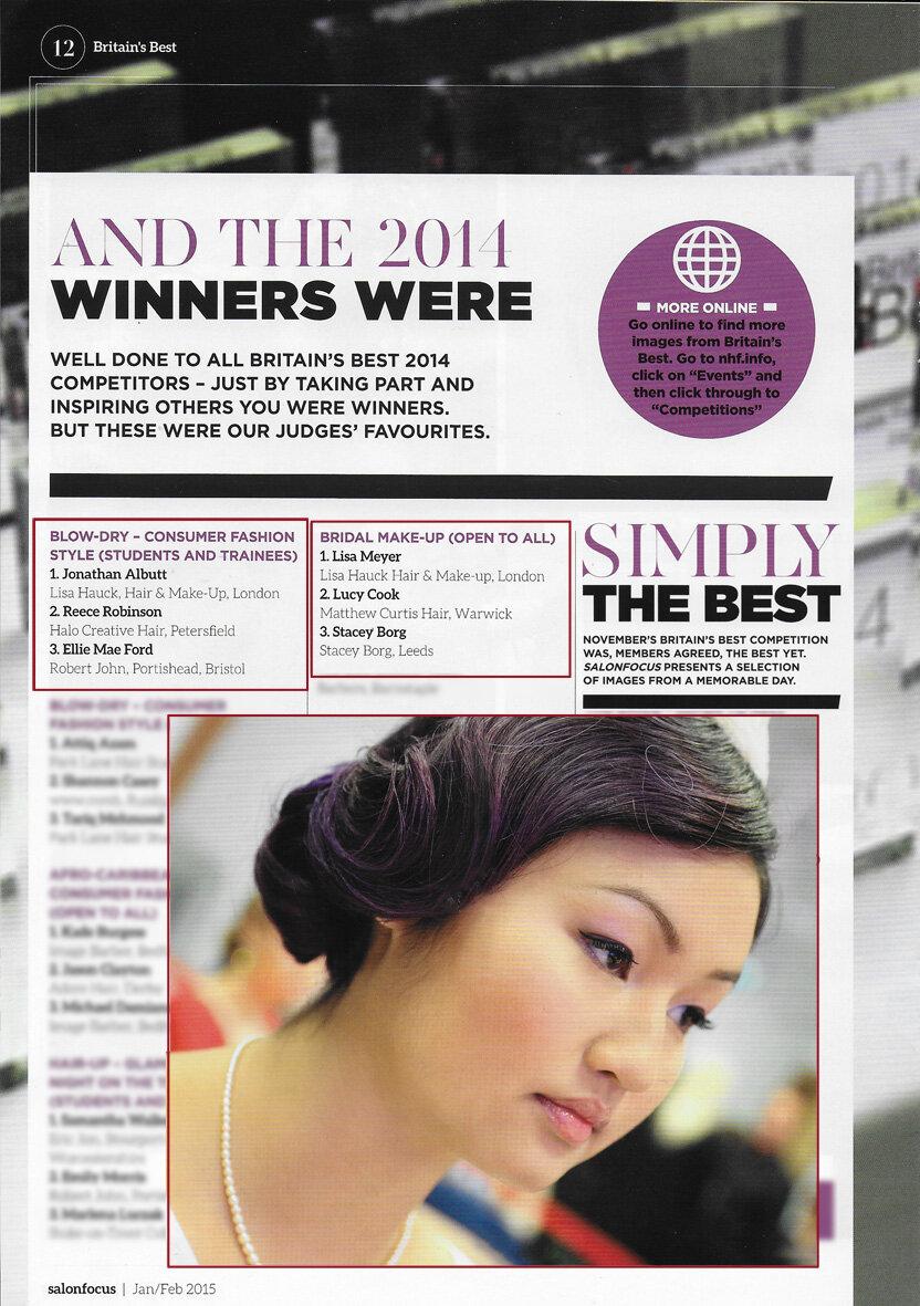 Salonfocus Jan-Feb 2015, Britain's Best competition winners: Lisa and Jonathan