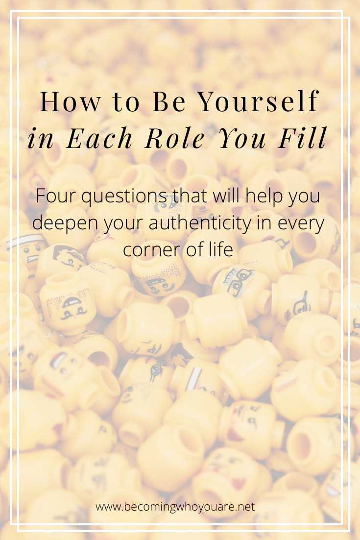 Do you want to add more authenticity to the different roles you play in your life? Click the image to discover 4 questions that will help you do just that.