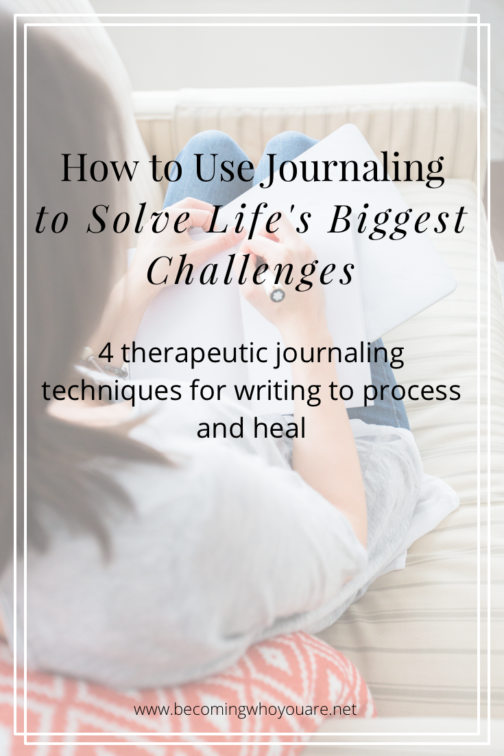 Looking for new ways to deal with life's ups and downs? Discover four therapeutic journaling techniques for writing to process and heal