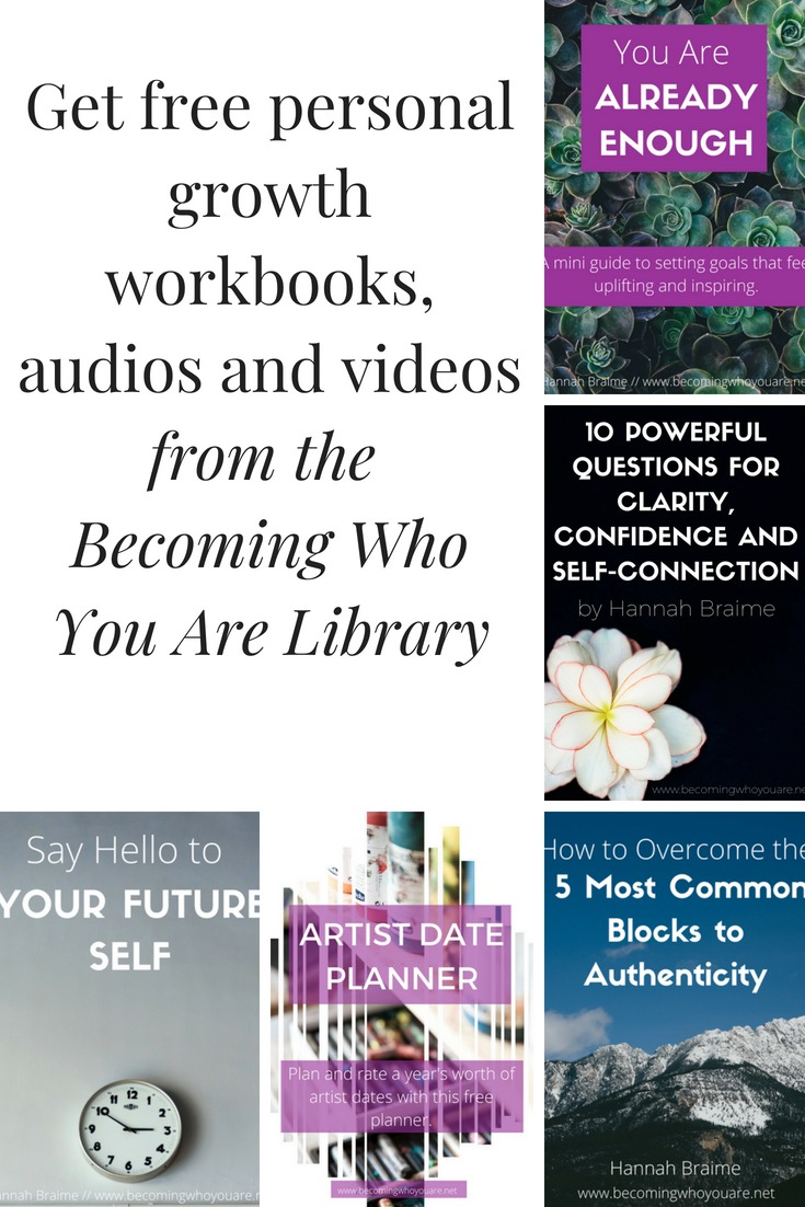 A List of Free Workbooks and Resources Available in the Becoming Who You Are Library