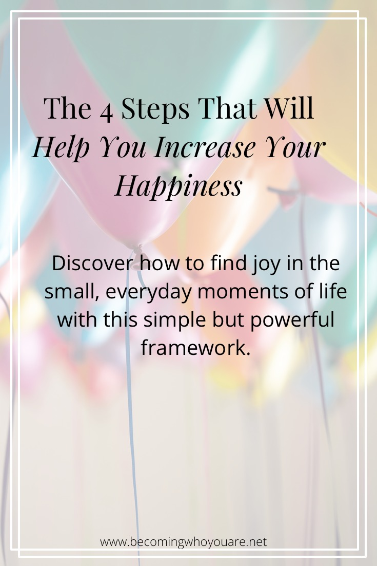 Discover how to find joy in the small, everyday moments of life with this simple but powerful framework.