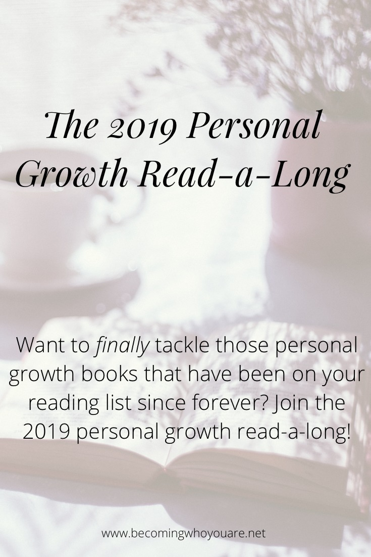 Want to finally tackle those personal growth books that have been on your reading list since forever? Join us for the 2019 personal growth read-a-long!