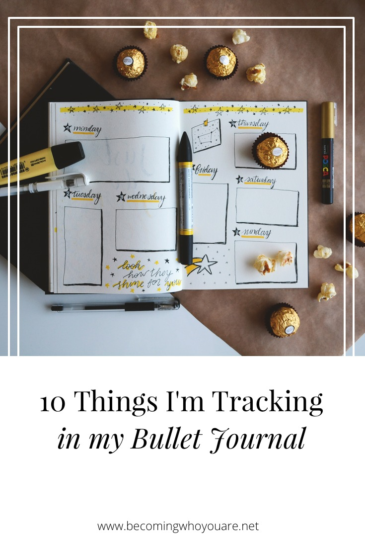 Looking for inspiration for your bullet journaling? Here are 10 things I'm tracking in my bullet journal right now