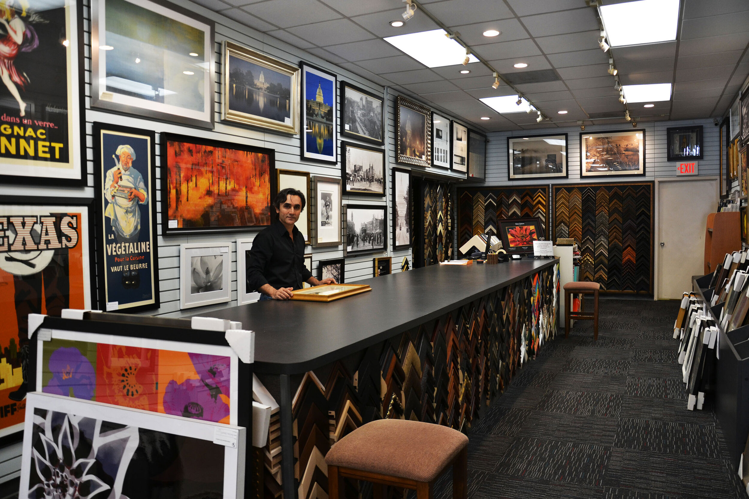 - International Art & Framing has been Washington DC's friendly neighborhood art gallery since 1992. We offer a large selection of original paintings, limited editions, and prints. Our framing services are out of this world amazing. We want your art to make you happy, so stop on by for a consultation or just to chat if you're in the mood.We welcome all projects, small or large. We also hold corporate and government accounts, as part of the General Services Administration network.
