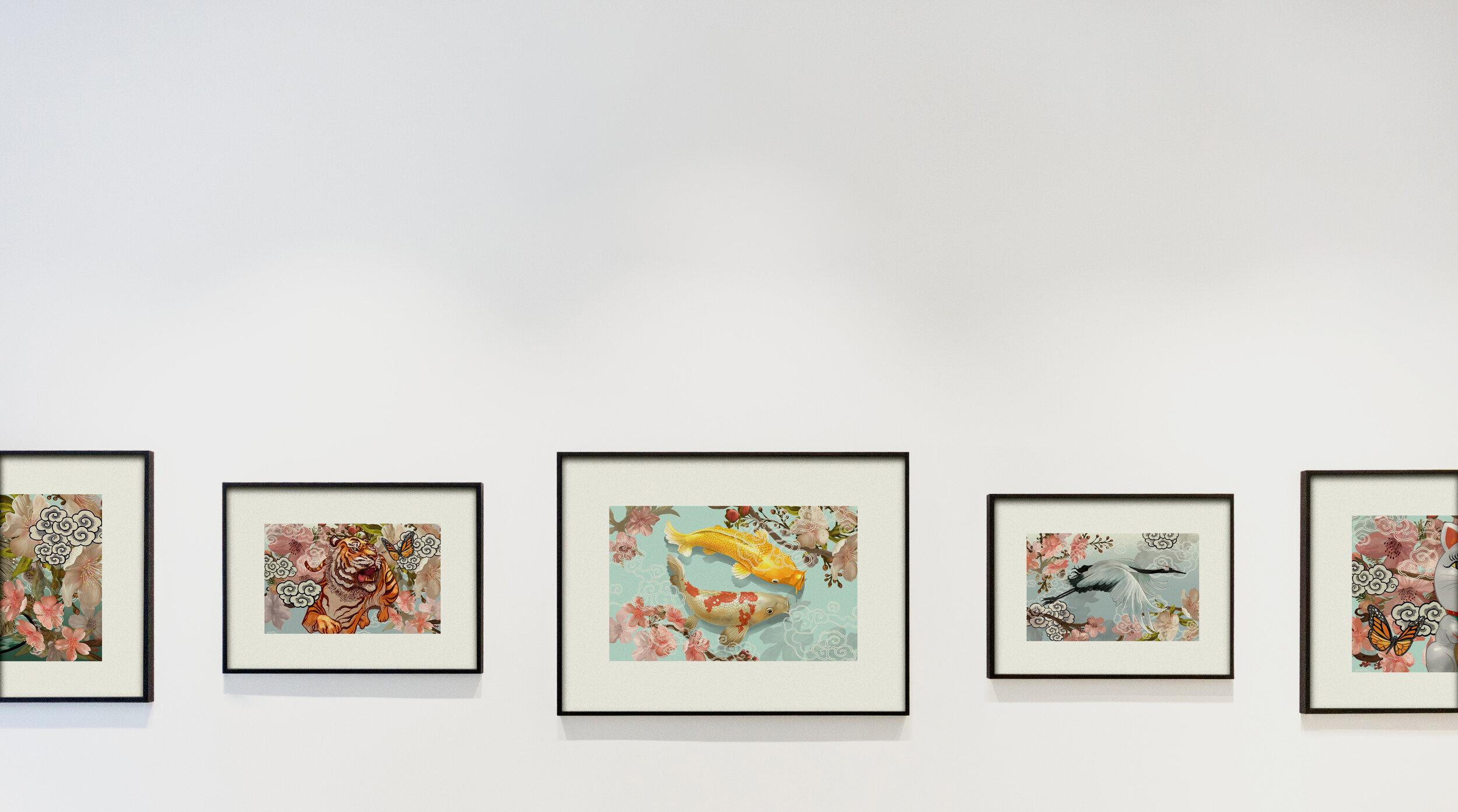 Antyki i Sztuka Bansky Art  Print Highest Quality Custom Framing