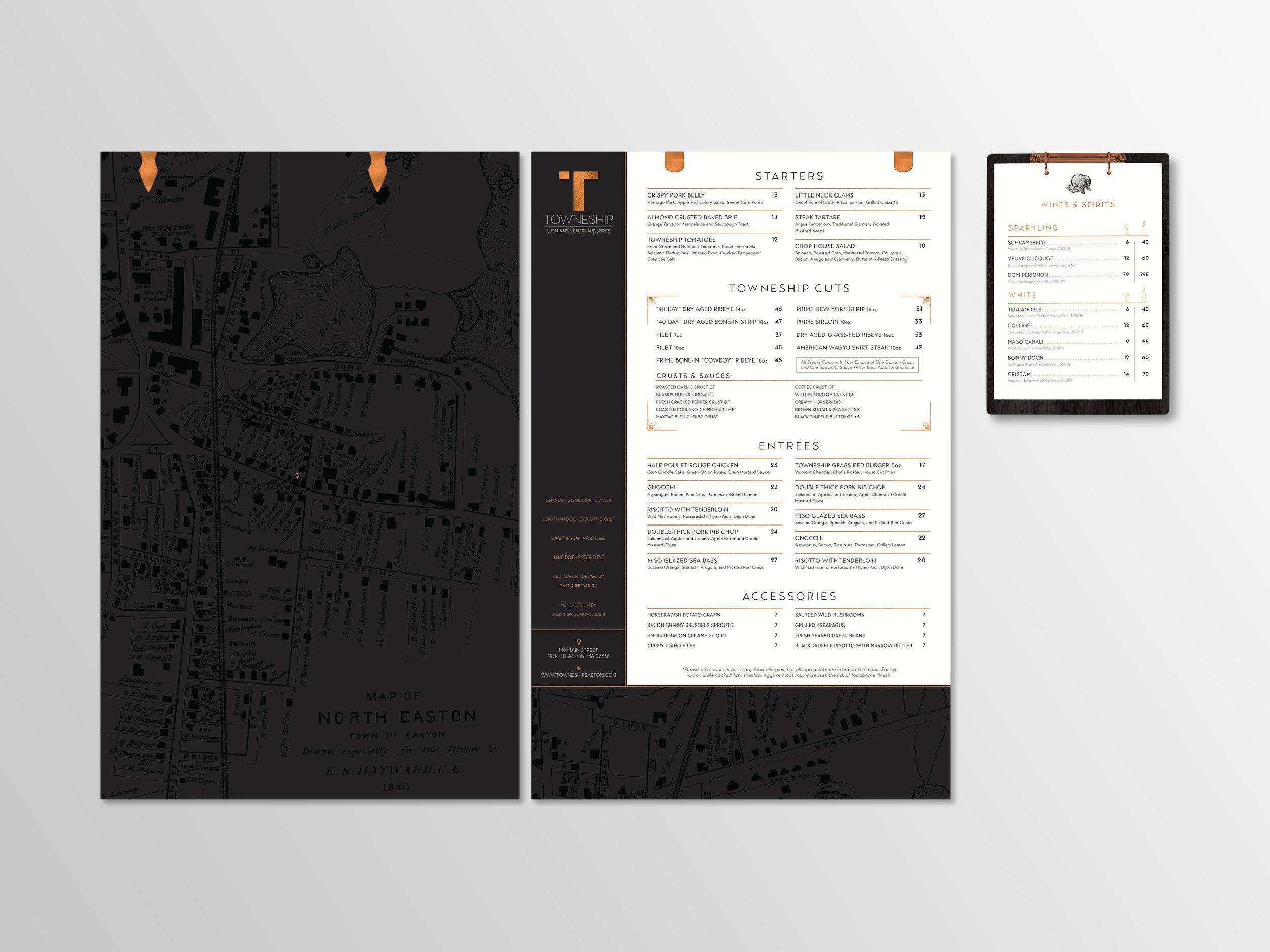 Restaurant Menu Design and Brand Identity Services