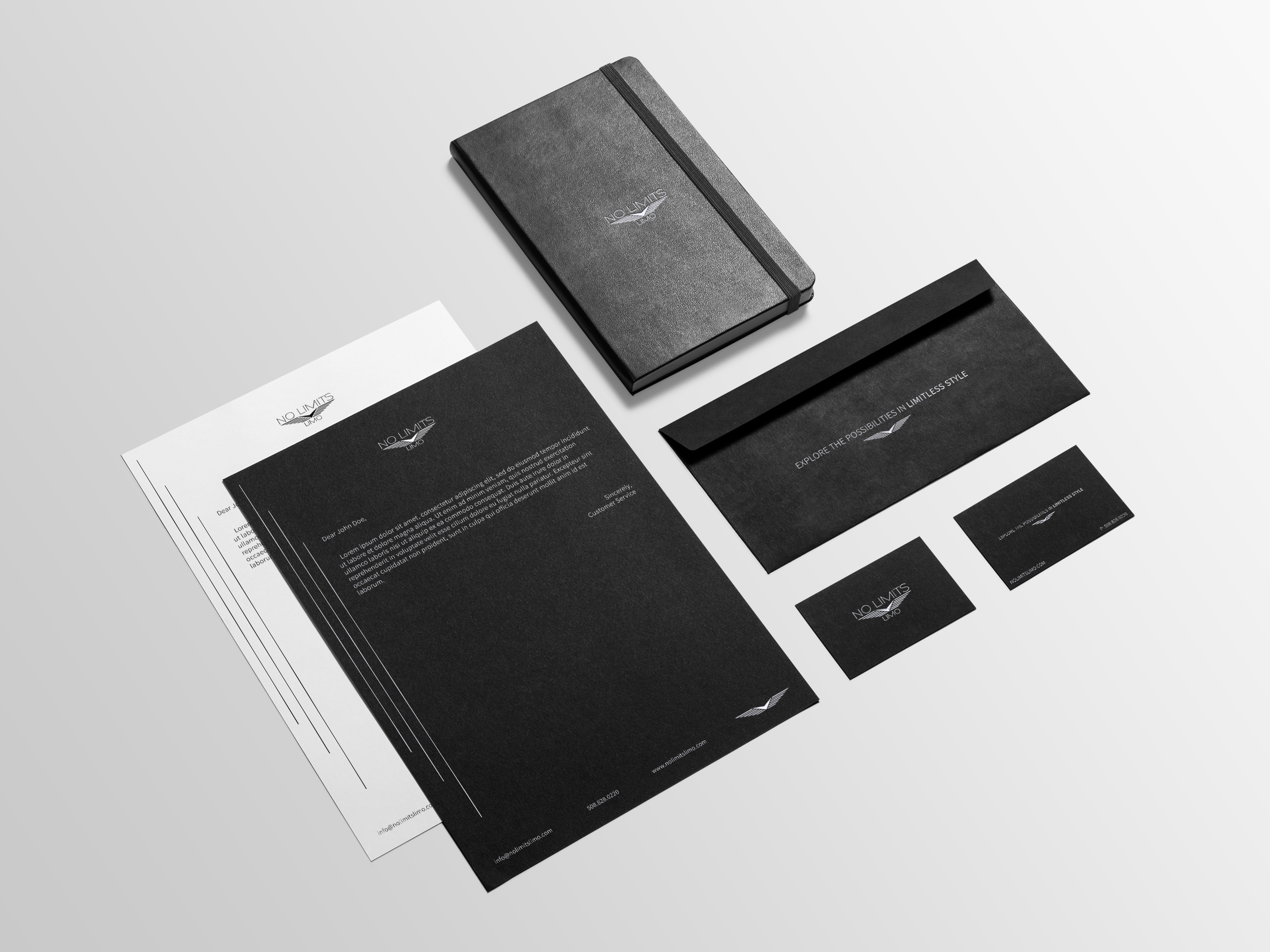 Courier and Travel Marketing Materials Design
