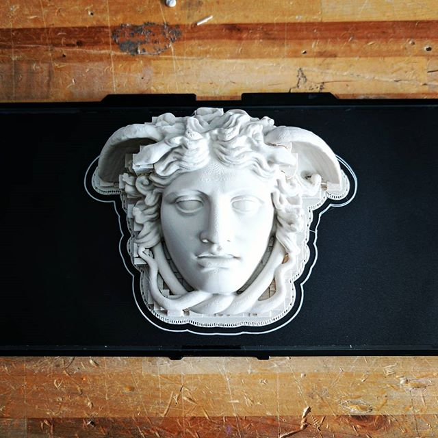 Embracing our Italian roots today  #3dprint #3dprinting #3dprinter #maker #makersgonnamake #instadaily #shotoftheday #italy #italian #medusa #design #workshop #wood